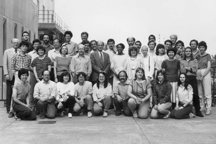 Paul Greengard with Rockefeller lab in 1980s