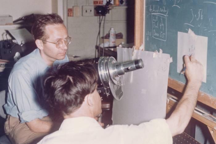 Torsten Wiesel and David Hubel at Wilmer Institute in 1958