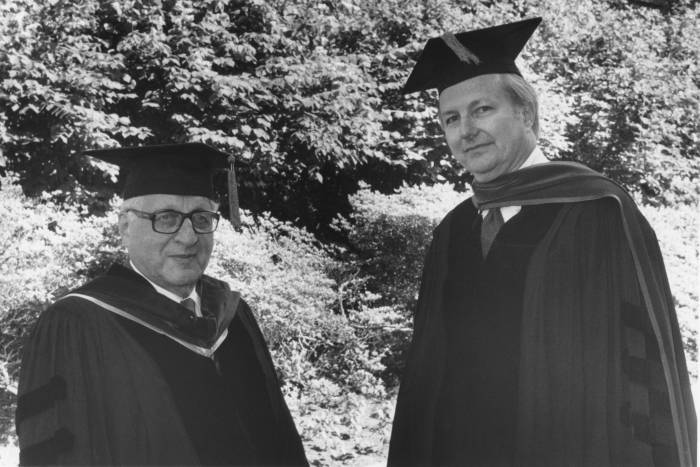 James Darnell and Harry Eagle at 1982 Convocation