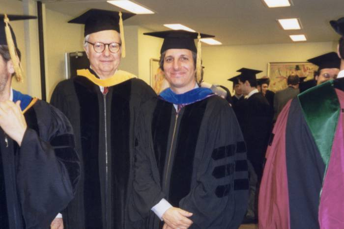 James Darnell and Robert Darnell at Convocation in 1999