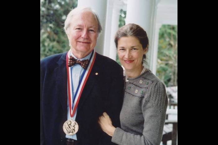 James Darnell wearing National Medal of Science in 2002