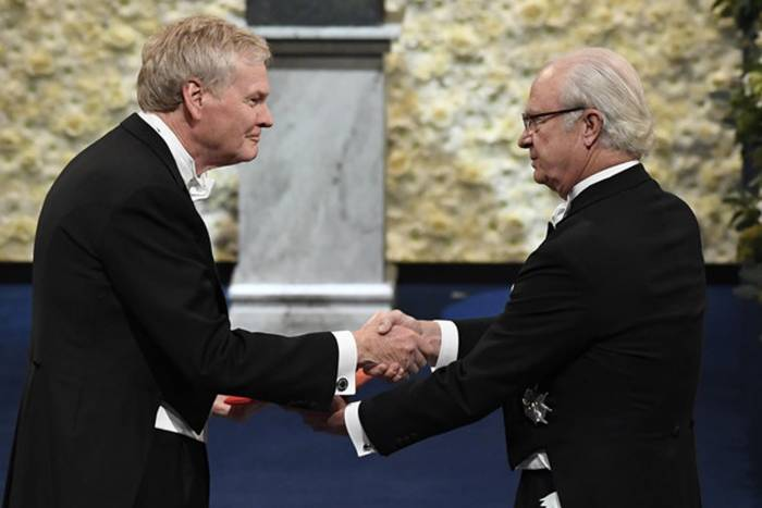 Mike Young receives the 2017 Nobel Prize in Physiology or Medicine (AP photo)