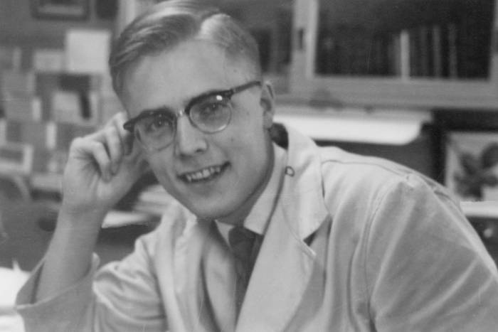 Bruce McEwen as a Ph.D. student at Rockefeller