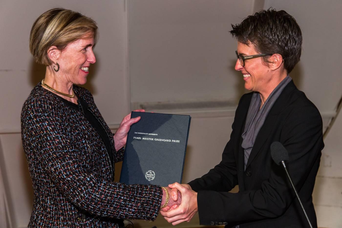 Dr. Helen Hobbs, Rachel Maddow