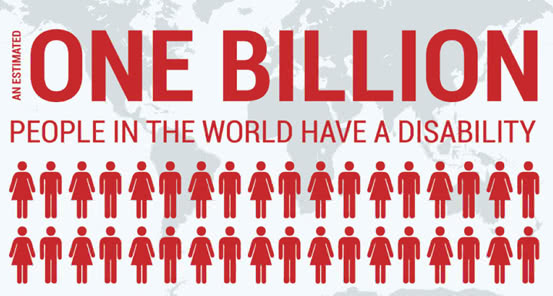 One billion people in the world have a disability