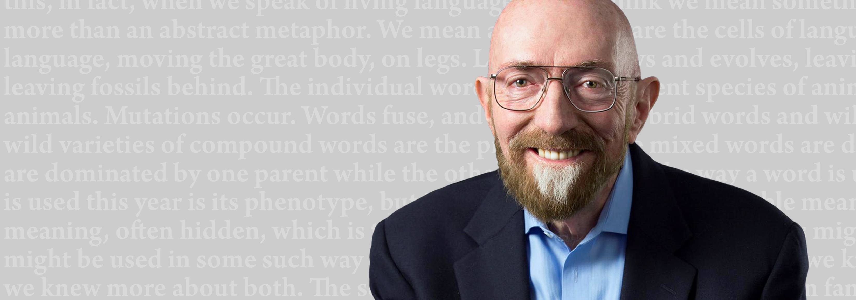 Kip Thorne with text behind him