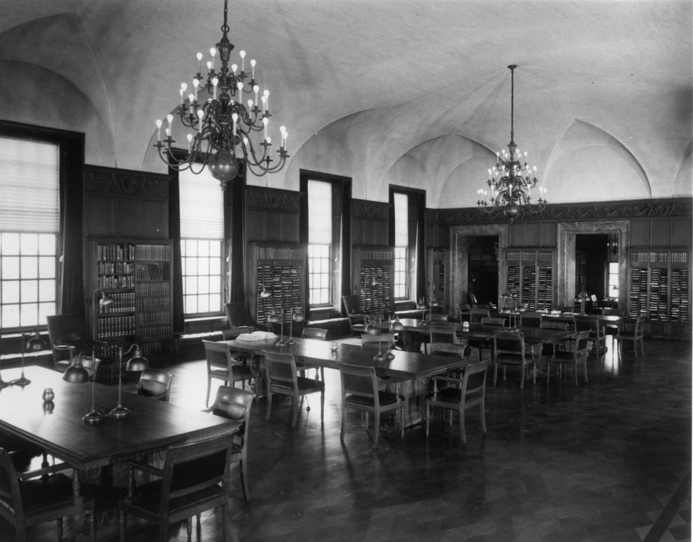 Library 2nd Floor Welch Hall 1954