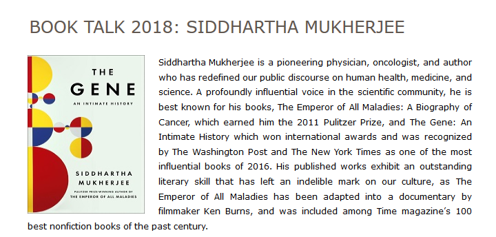 Book Talk 2018