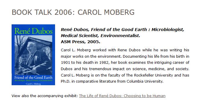 Book Talk 2006: Carol Moberg
