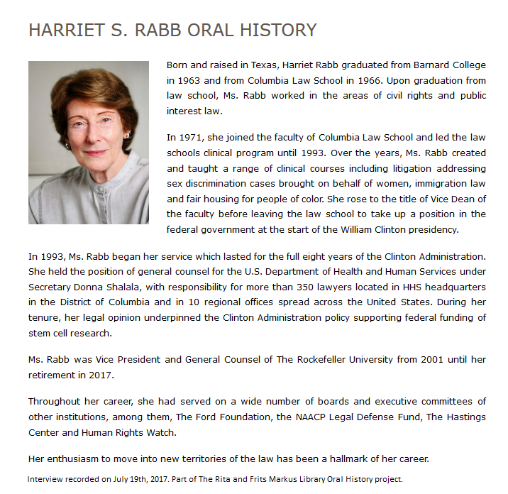 Harriet Rabb