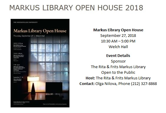 Markus Library Open House 2018