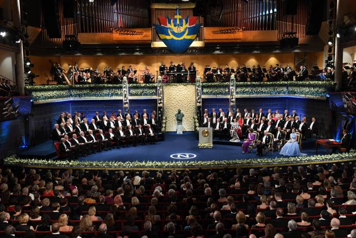 The 2017 Nobel Prize Award Ceremony in Stockholm.