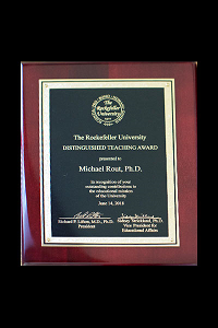 Distinguished Teaching Award Plaque