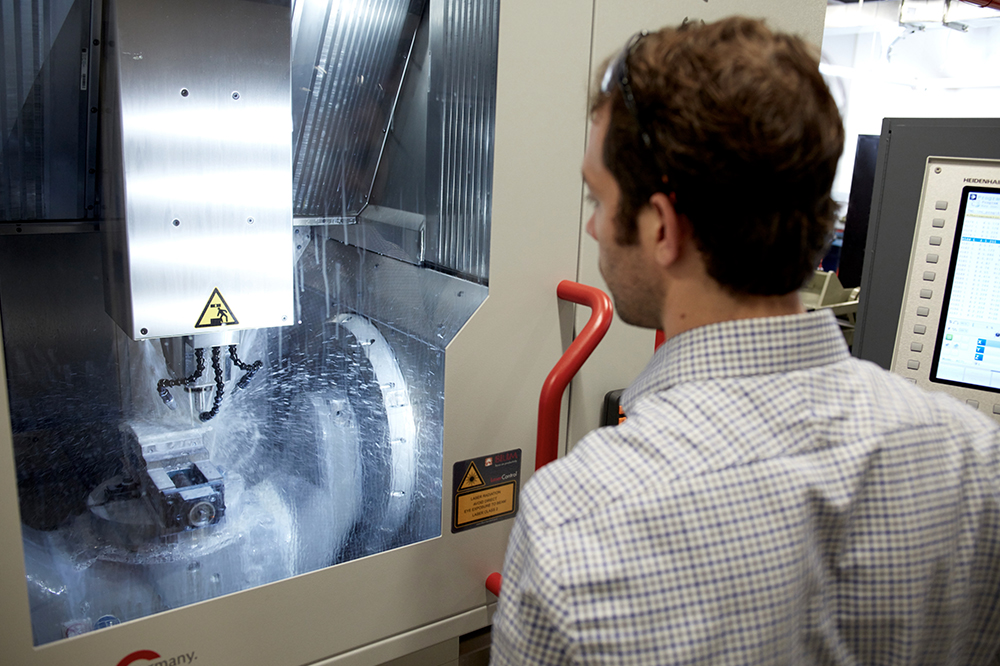 The Hermle C22 CNC milling machine is the centerpiece of Rockefeller's Precision Instrumentation Technologies facility.