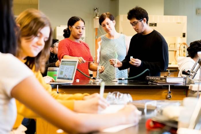 Stephanie Kadison and students