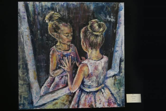 Kristina Hedbacker's portrait of her daughter Linnea.