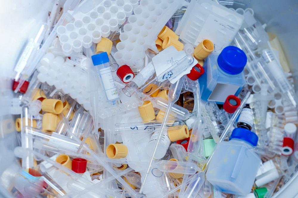 Pile of Microcentrifuge Tubes - Medical Plastic