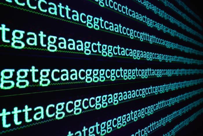 DNA code on screen