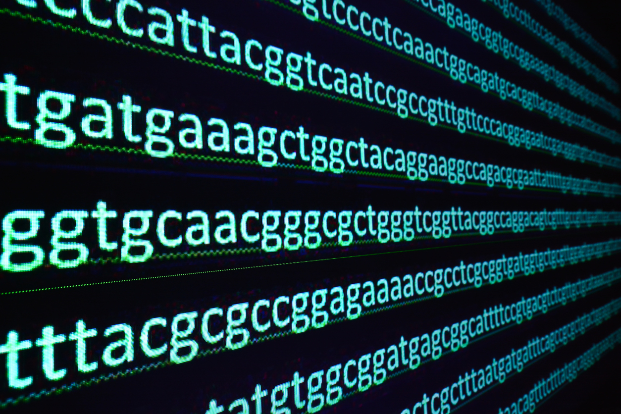 DNA code on screen