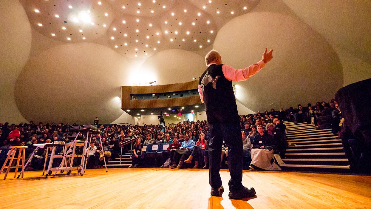 Hudspeth at Rockefeller lecture