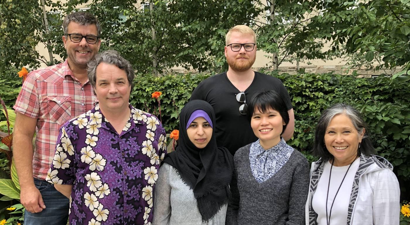 From Left to right: Henrik, Henry, Hanan, Soren, Bety & Sue.