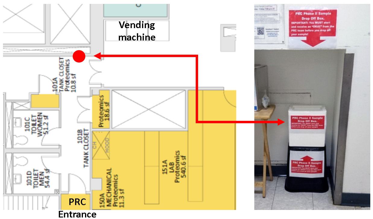 PRC sample drop-off in RRB101 corridor.