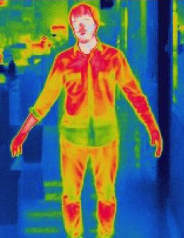 A thermal image of Roman Corfas
