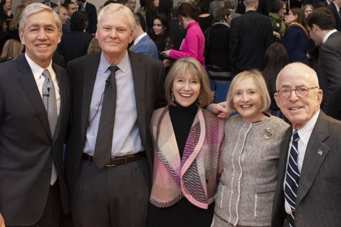 Rick Lifton, Mike Young, Laurel Eckhardt, and Pat and John Rosenwald