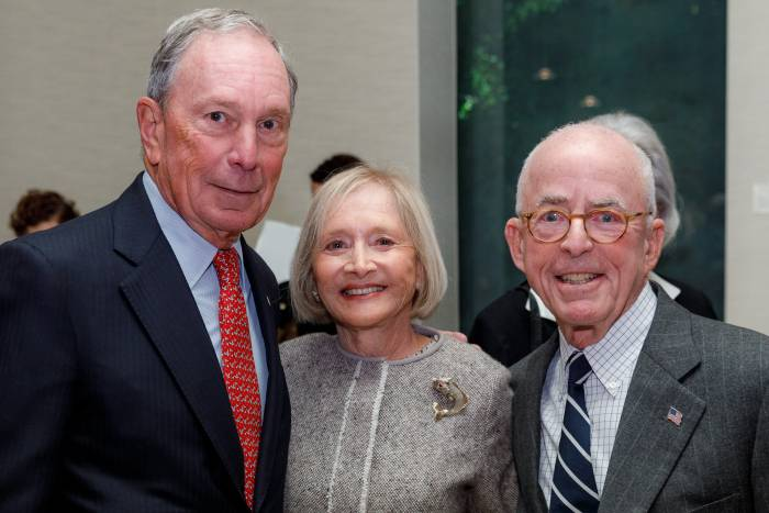 Mike Bloomberg with Pat and John Rosenwald