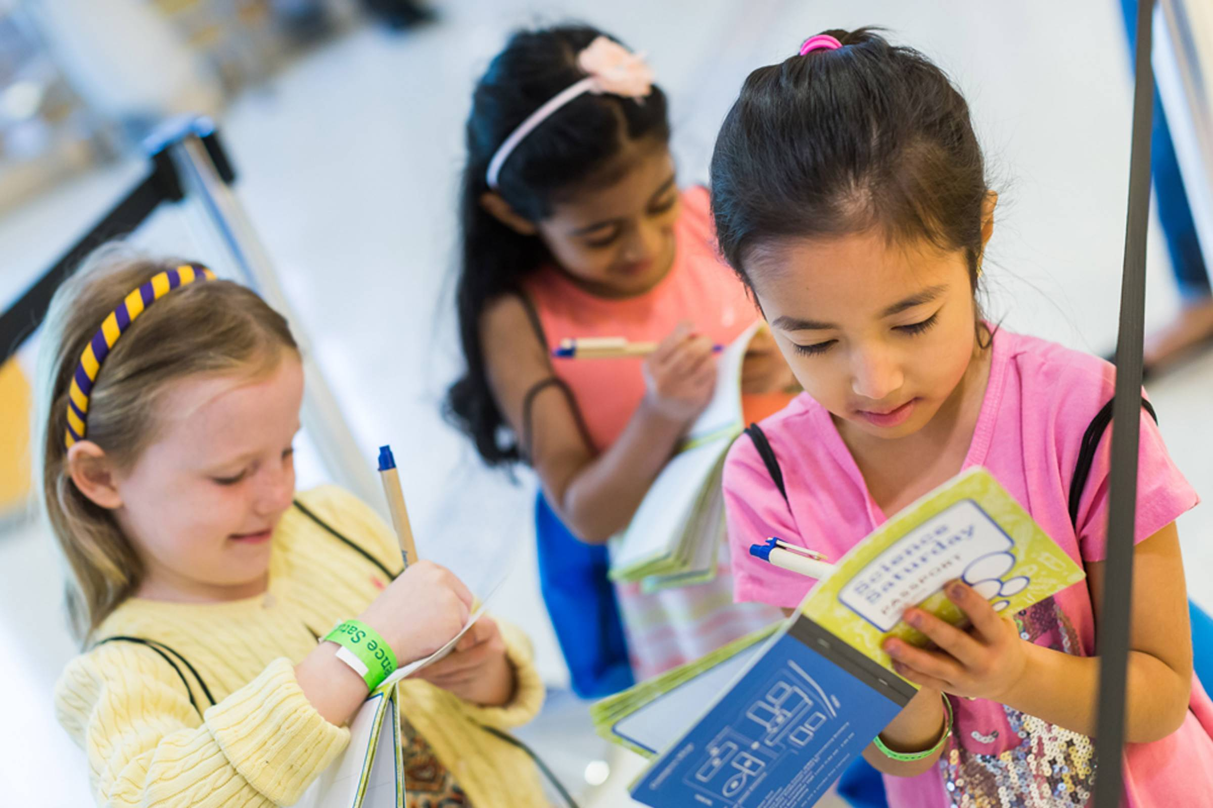 Students used Science Saturday passports to record their findings, just as real scientists use lab notebooks.