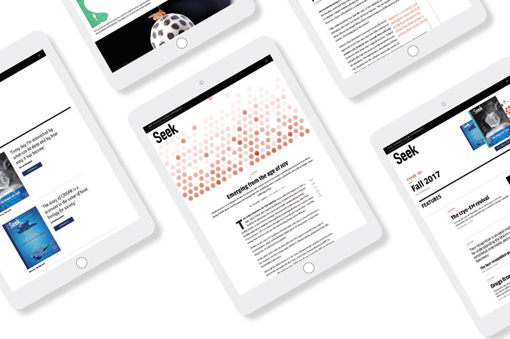 Digital illustration of Seek on the web