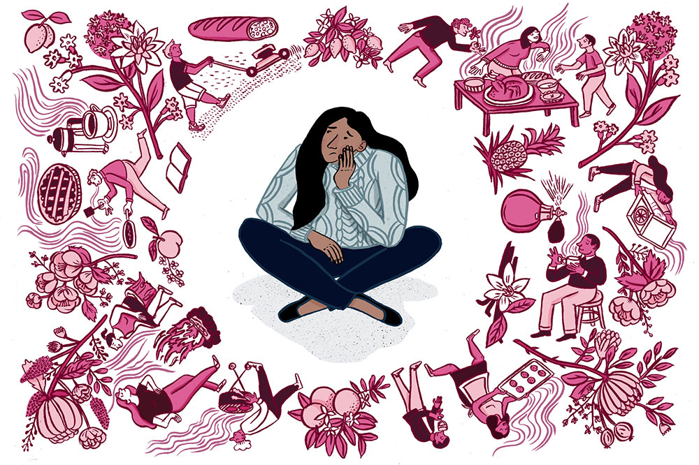 Smell problems can increase people's risk for health problems like depression, or even be a sign of neurodegenerative disease. (Illustration by Vidhya Nagarajan)